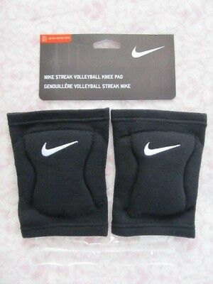 Nike Streak Volleyball Knee Pads One Pair Black Size Adult M/L - New