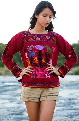 Handmade Mexican Tomicoton Embroidered Sweater