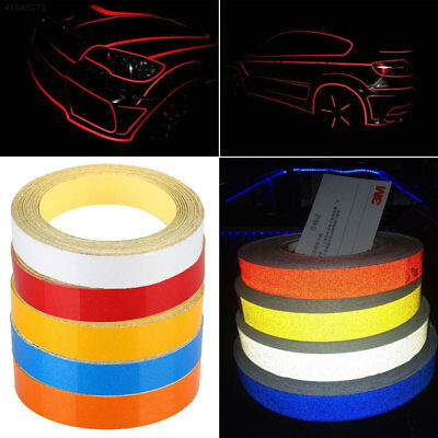 6AA9 Car Truck Motorcycle Reflective Strip Safety Warning Tape Sticker 1CMx5M