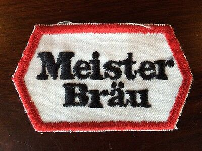VINTAGE M2 MEISTER BRAU EMBROIDERED BEER PATCH BREWERY Breweriana Collectable