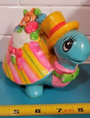 Vintage Turtle Savings Piggy Bank with Stopper.  Japan Holiday Fair