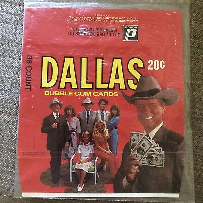 Dallas Bubble Gum Cards Box Donruss Empty Card Box