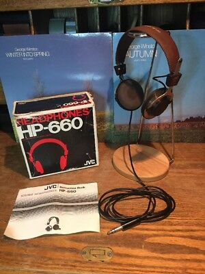 Ultra Rare Vintage JVC HP-660 Headphones With Box And Manual By Victor Co