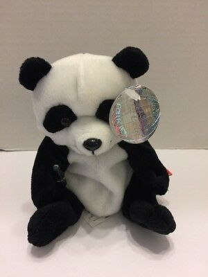 Coca Cola Collection Animal Toy 1998 #0228 ZongShi Panda Bear With Silver Tag