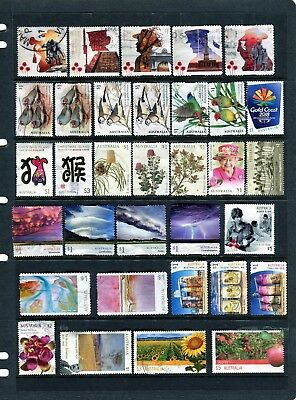 2017-18 Australian Bulk Lot Page Of Recent Sheet & S/A Stamps USED, High Values
