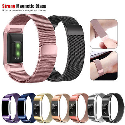 New For Fitbit Charge 2 Stainless Steel Milanese Watch Strap Wrist Band Classic