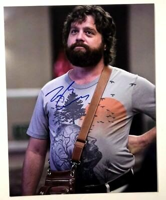 Autographs-original Reasonable Zach Galifianakis The Hangover Signed 8x10 Photograph Rare Inscription Full Auto