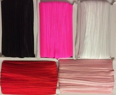 Fold over elastic FOE sold by 5M Pick your colour FREE POST WITH PRIORITY STAMP