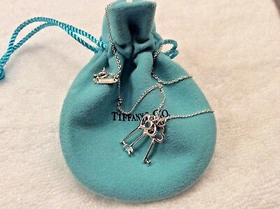 Tiffany & Co Mini Keys Neckless With Pouch Sterling Silver