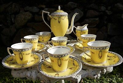 Antique Duchess Coffee Set Duchess E & BL (Edwards and Brown), made in England