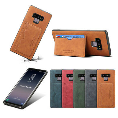 Shockproof PU Leather Flip Stand Case Card Slot Bumper Cover for Samsung Note 9