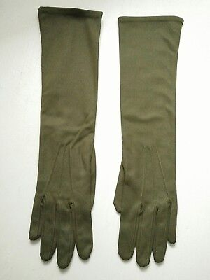 Vintage womens gloves size 6 and half ,olive colour