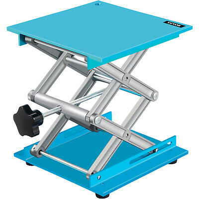 """8"""" X 8"""" Lab Jack Aluminum Lab Lifting Platform Stand Lifter Oxide Crafted"""