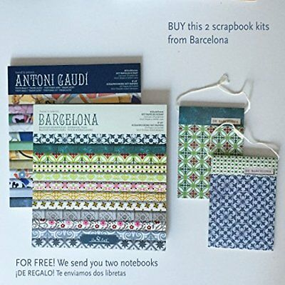 2 Pads scrapbook, Kit Barcelona+Gaudí 8''-203mm // REGALO 2 libretas surtidas