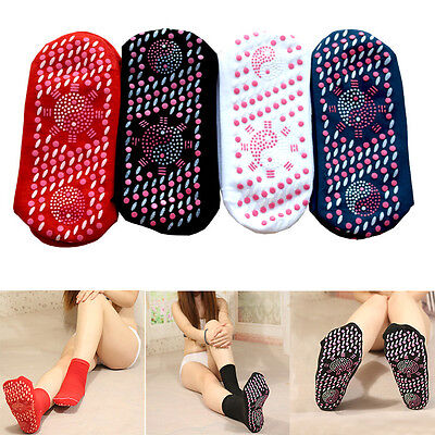 Health Self Heating Magnetic Tourmaline Therapy Sock Foot Pain relief Infrared