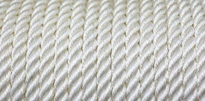 Nylon 3 Strand Twisted Rope 12mm x 50m White