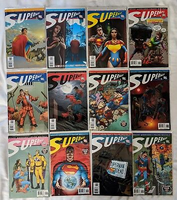 All Star Superman Full Complete Set #1 to 12 Morrison Quitley DC Comic Books NM