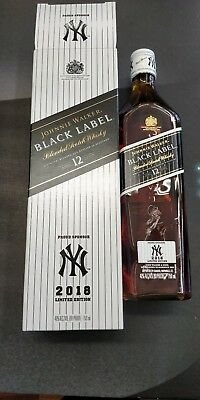 Johnnie Walker Black Label- NY Yankees 2018 Limited Edition