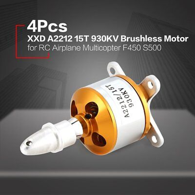 4Pcs XXD 2212 15T 930KV Brushless Motor for RC Airplane Multicopter F450 S500 LP