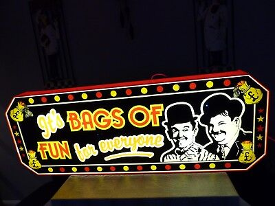 OLD ARCADE SIGN by Harper signs - Laural and Hardy - One arm bandit Cave -  £3li