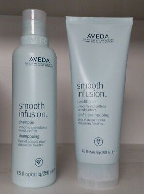 Lot of 2 Aveda Smooth Infusion Shampoo 8.5 oz & Conditioner 6.7 oz Set NEW Fresh