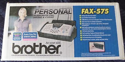 New Brother FAX-575 Plain Paper Thermal Copier Fax