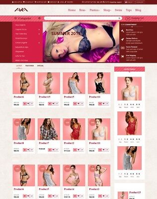 Exclusive eCommerce Fashion Website Online Store Shopping Cart!