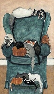 Cats On A Recliner Magnet