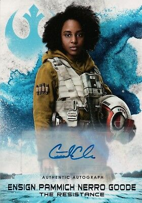 Star Wars The Last Jedi Series 2, Crystal Clarke Chase Card Auto #5/5