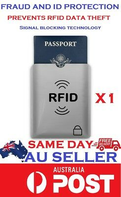 RFID Blocking Passport Sleeve Protector Secure Travel Anti Theft *AUSSIE SELLER*