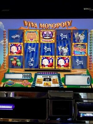 WMS VIVA MONOPOLY Software BB2 Slot Machine Williams Bluebird 2 Game