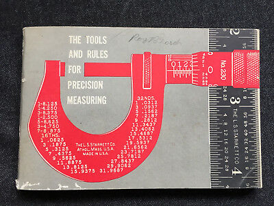 Vintage STARRETT CO Tools & Rules for Precision Measuring 1965 Booklet Catalog