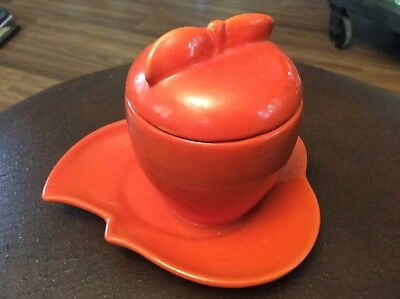 Red Wing Marmalade & Stand Apple 227 Orange Gypsy trail dinnerware line