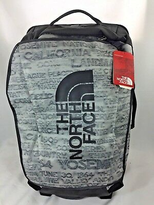 NEW 22 North Face Rolling Thunder Moonlight Ivory Scratch Print Duffel Carry NWT