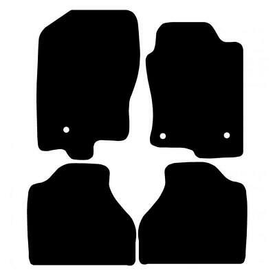 Tailored Black Car Floor Mats Carpets 4pc Set with Clips for Nissan Navara 10-16