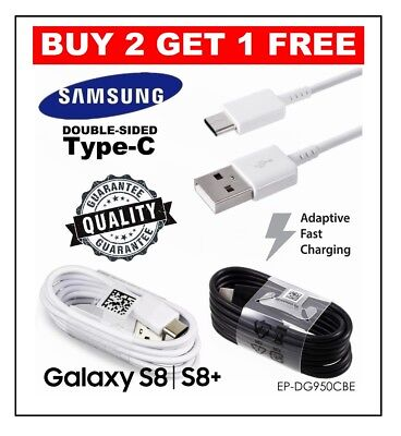 Fast Charger USB Data Cable For Samsung Galaxy S8, S9, Plus, Note 8, A8 2018
