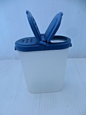1 Large Tupperware Modular Mates Oval Spice 1846 With Lid 1844 Blue Flip Spout