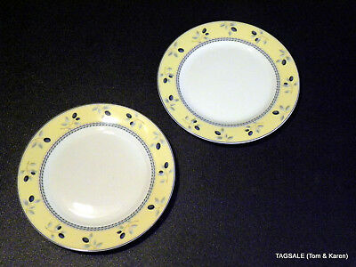 "2 Pcs ~ ROYAL DOULTON china BLUEBERRY pattern ~ 2 Salad Plates ~ 7 1/2"" ~ Micro"