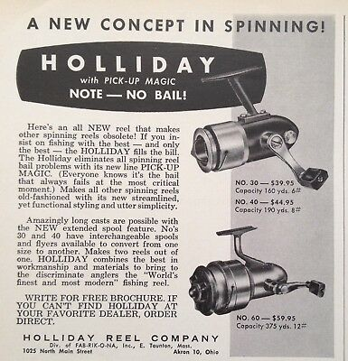 1964 Ad(Odl34)~Holliday Reel Co. E.taunton, Mass. Holliday Spinning Reel