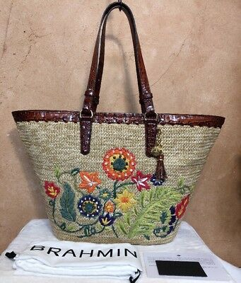 0277933b2885 MICHAEL KORS Malibu Palm Embroidered Woven Straw Large Tote Purse Handbag  NWT. $199.99 Buy It Now 23d 3h. See Details. NWT $395 Brahmin Romina Natural  Le ...
