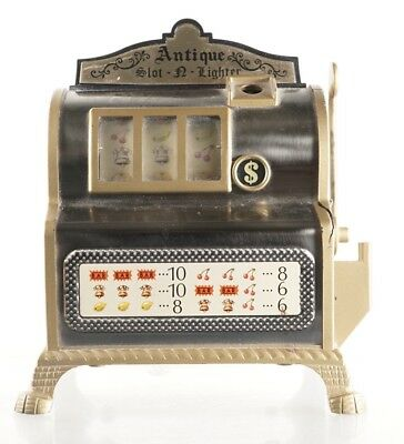 Antique Slot Machine + Lighter - Small Table Top - Vintage