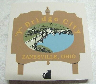 "Cat's Meow Wood  Zanesville, Ohio HISTORIC ""Y"" BRIDGE Signed: Faline 1993"