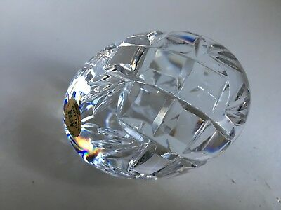 Tyrone Crystal Full Lead Clear Paperweight Egg Shaped 7.5cm Tall