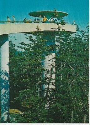 Clingman's Dome Observation Tower TN NC Stateline Real Photo 3-D Postcard 1985