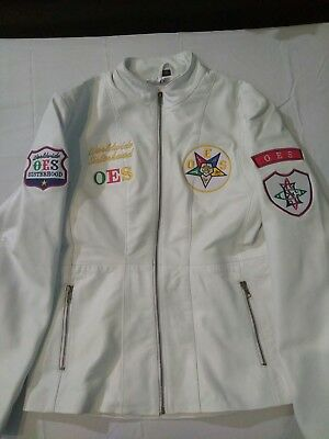 Order of Eastern Star White Leather Jacket