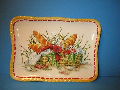 """NEW FITZ /& FLOYD /""""CLAMBAKE/"""" SAUCE BOAT CUP CRAB LOBSTER HANDLE"""