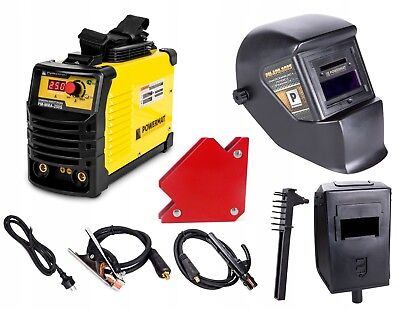 SET PM-MMA-250S Inverter ARC Welder 250A IGBT Stick 250Amp MMA + Helmet, Magnet