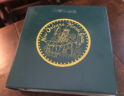 1960's 1970's Book Of 283 New Orleans Mardi Gras Doubloons Rex +++ Tokens
