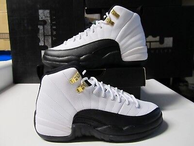 outlet store 8a029 973d1 BOYS NIKE AIR Jordan Retro 12 XII GS TAXI White Black Red 3.5Y Wmns 5  153265 125
