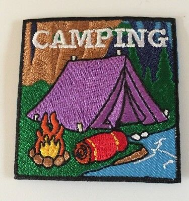 Boy / Girl Scout Camping Patch / Badge  **NEW**